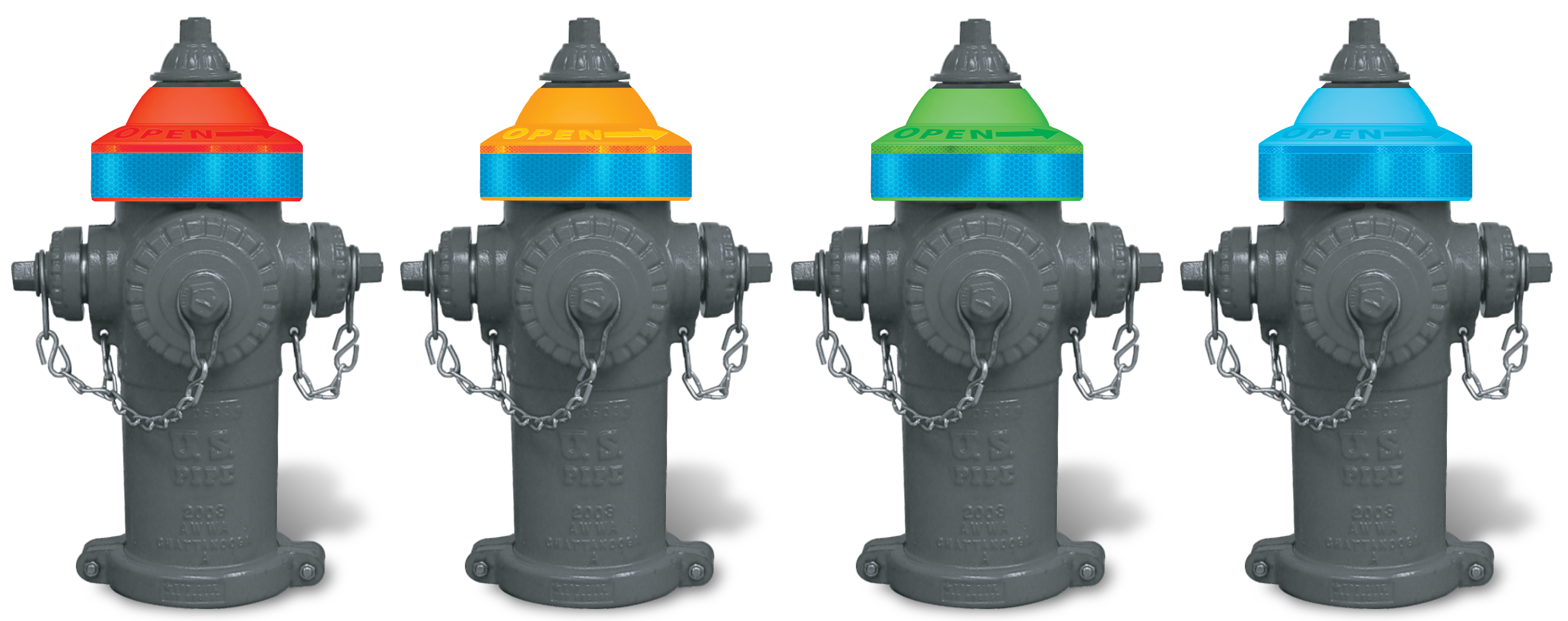 NFPA-291 Colors Fire Hydrants